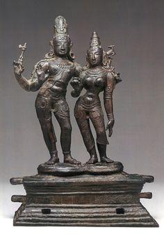Shiva and Uma India (Tamil Nadu) late century Bronze 17 in cm) Archaeology Bronze Sculpture, Sculpture Art, Chola Dynasty, Indian Temple Architecture, Asian Sculptures, Hindu Statues, Indiana, Krishna, Sphynx