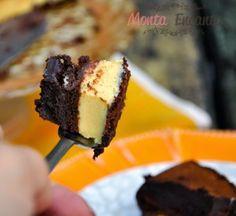 Bolo de chocolate trufado de maracujá, leva recheio trufado e é coberto por uma deliciosa ganache de chocolate meio amargo