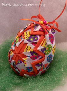 Quilted Ornament Easter Eggs and Bright by MyPrairieCreations, $18.00