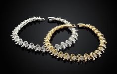 Bracelet w/ Gold or Silver Overlay