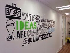 Wall graphic installation at MatrixAPA. #typography # typographic #wallgraphic #decal #vinyl #design #london #office #brand #branding