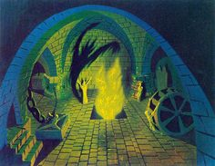 1957 Sleeping Beauty Castle - Maleficent summoning demons | por Tom Simpson