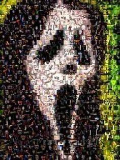 Amazing Scream Horror Movie Monster Poster Montage #ed