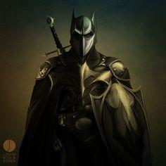Medieval Batman by John Aslarona