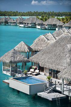 Regis Bora Bora Resort—Royal Over Water Villa by St. Regis Hotels and Resorts, Vacation Places, Vacation Destinations, Dream Vacations, Vacation Spots, Places To Travel, Places To Visit, Bora Bora Resorts, Hotels And Resorts, Places Around The World