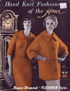 1960s knitting pattern for coat and suit