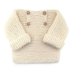 Learn how to Make this Knitted Baby Sweater made with GARTER stitch. FREE Step by Step Pattern & Tutorial. Amaze yourself about how easy it is!