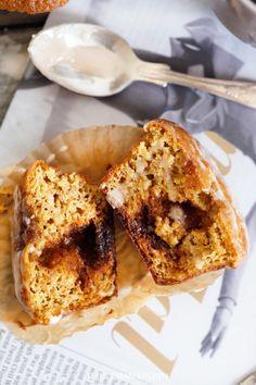 Pumpkin Sticky Bun Muffins by @AlexisKornblum - Lexi's Clean Kitchen
