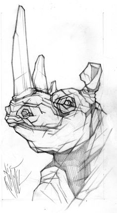 rhino head by ~nicrummel on deviantART
