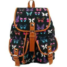 """HOT PRICES FROM ALI - Buy """"Vintage Women's canvas Rucksack Butterfly printing backpack school bag for teenagers women satchel 4 colors"""" from category """"Luggage & Bags"""" for only USD. Satchel Backpack, Canvas Backpack, Black Backpack, Satchel Handbags, Cute Backpacks, Girl Backpacks, School Backpacks, Backpack For Teens, Vintage Canvas"""