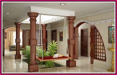Kerala Interior Design Photos House - Decoration Home Indian Home Design, Indian Interior Design, Kerala House Design, Indian Home Decor, Kerala Traditional House, Traditional Homes, Traditional House Plans, Chettinad House, Design Living Room