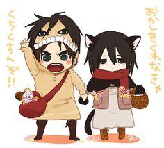 Eren and Mikasa. ^^