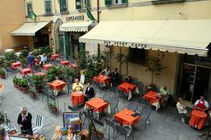 There is just something about cafes in Italy....we could sit there forever.