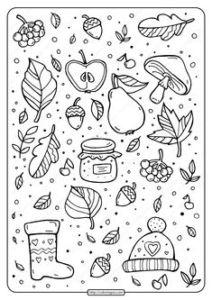 Free printable Signs of Fall coloring pages for kids of all ages. You can print or download them to color and offer them to your family and friends. #free #pdf #printable #signs #fall #coloring #drawing #page #book #adult