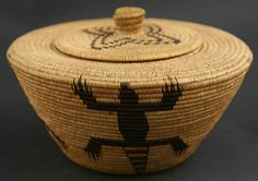 California Native American Indian Baskets - Panamint Basket with Gila Monster Design
