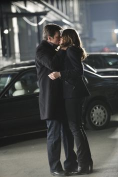 Nathan Fillion and Stana Katic on Castle