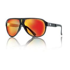 Dragon Experience II Aviator Sunglasses Matte Black Frame Red Ion Mirror Lenses