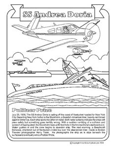Airport Coloring Book Andrea Doria and Nantucket (ACK) for coloring