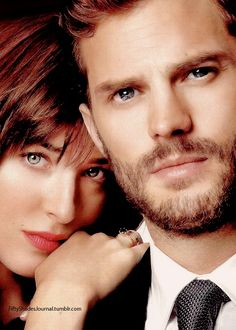 "Fifty Shades of Grey stars ""Ana"" Dakota Johnson and ""Christian"" Jamie Dornan Fifty Shades Quotes, Shade Quotes, Fifty Shades Series, Christian Grey, Dakota Johnson, Jamie Dornan, Gideon Cross, Mr Grey, Anastasia Grey"