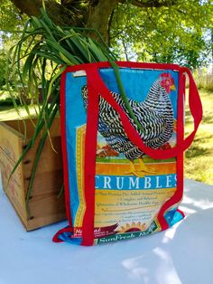 canvas tote bag/ durable tote/ strong bag/ by CrookedCoopFarm, $22.00