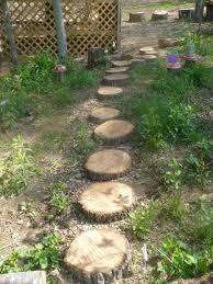 stepping round for garden ramble