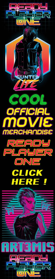 "Click here to see a stunning range of official merchandise from the hot movie ""Ready Player One""  Share this link with your friends - and discover stunning gifts for everyone !"