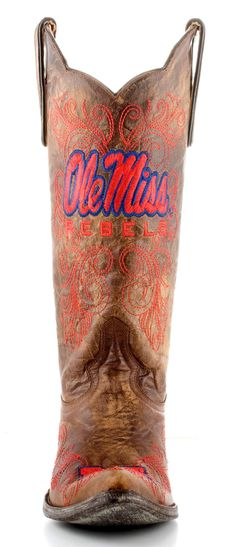 Ole Miss Gameday Cowgirl Boots