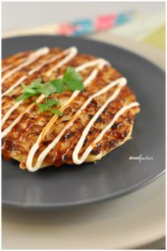 """Easy Okonomiyaki:  I had leftover coleslaw mix and found this Japanese """"pancake"""" recipe. You can add shredded carrots, zucchini, green onions, and/or apples as well.  I made a large skillet sized one and left the mayo off."""