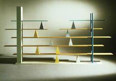 Andrea Branzi    Gritti, 1981    Bookcase in plastic laminate, wood, metal and glass    340 x 30 x 203cm
