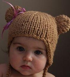 baby bear hat :) love the ribbon!