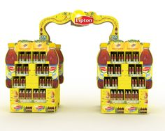 Lipton Tea POP Pos Design, Retail Design, Point Of Sale, Lipton, Floor, Display, Dreams, Tea, Pavement