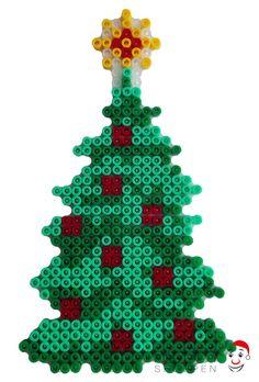 Juletræ af Hama perler