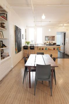 Name: Irma Zandl and Brad Kahlhamer Location: Lower East Side, Manhattan; New York, New York Size: 1,700 square feet Years lived in: 20 years; Owned Light, open and airy, Irma's Manhattan loft feels like an oasis in the heart of downtown. Upon entering, it is immediately clear that the art that fills this home has all been chosen with a strong eye for talent and a great love of the work. To spend time in this gorgeous space is at once calming and inspiring.