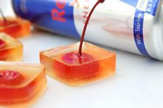 Red bull jello shots, fun adult party ideas.