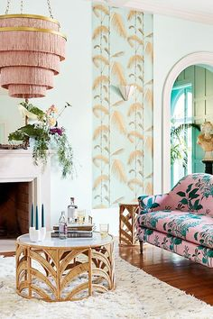 Bright & Buzzy Anthropologie Home Arrivals - Thou Swell - Spring home decor arrivals from Anthropologie on Thou Swell - World Of Interiors, Interior Modern, Home Interior, Apartment Interior, Colorful Interior Design, Interior Ideas, Home Design, Design Homes, Anthropologie Home