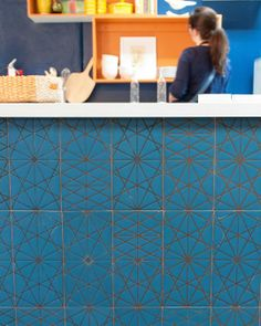 New Bling For Your Kitchen: Kismet Tiles.  I would like this in a different color for the back splash around the counter.