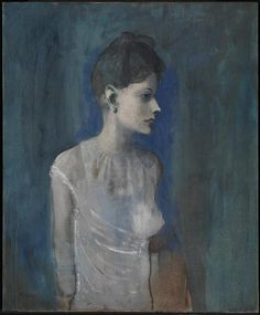 Pablo Picasso, Girl in a Chemise c.1905 on ArtStack #pablo-picasso #art