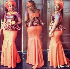 SEE MORE STYLES HERE >>>http://www.dezangozone.com/Orange ~Latest African Fashion, African women dresses, African Prints, African clothing jackets, skirts, short dresses, African men's fashion, children's fashion, African bags, African shoes ~DK