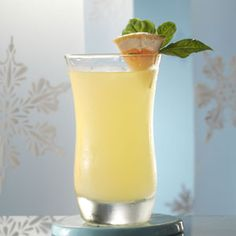 Basil Citrus Cocktail Recipe -Fruity, fantastic and lighter in calories! —Taste of Home Test Kitchen, Milwaukee, Wisconsin Party Drinks, Fun Drinks, Yummy Drinks, Beverages, Cold Drinks, Basil Cocktail, Cocktail Drinks, Fresh Basil Recipes, Ginger Liqueur