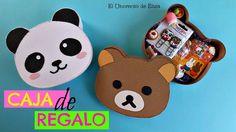 Kawaii Diy, Kawaii Gifts, Diy Gift Box, Diy Box, Birthday Greeting Cards, Birthday Greetings, Diy Crafts For Gifts, Paper Crafts, Panda Gifts