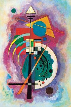 """""""Hommage a Grohmann"""" by Wassily Kandinsky is one of his most well known paintings. Will Grohmann - a German art historian, art critic and art historian, considered the 'godfather of modernism.' He specialized in German expressionism and abstract art. Kandinsky Prints, Kandinsky Art, Wassily Kandinsky Paintings, Poster Prints, Art Prints, Canvas Poster, Canvas Prints, Art Moderne, Art Plastique"""
