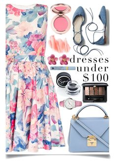 """Dress Under $100"" by ittie-kittie ❤ liked on Polyvore featuring Dorothy Perkins, Gap, Mark Cross, Guerlain, 88 RUE DU RHONE, Sigma, Estée Lauder, Birchrose + Co., Summer and summerstyle"