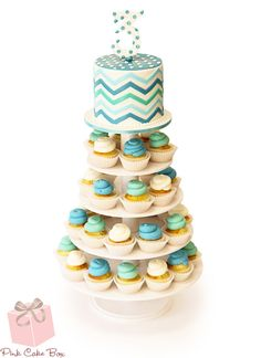 chevron cupcakes | Chevron Birthday Cupcake Tower » Cupcakes