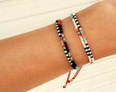 Beaded layering bracelet boho jewelry boho by ToccoDiLustro