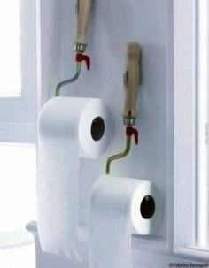 Despachadores de papel higiénico muy originales! puedes realizar cualquiera de estas ideas con infinidad de materiales. #diyproject