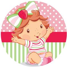 KIT FESTA PRONTA MORANGUINHO BABY GRÁTIS PARA BAIXAR Strawberry Shortcake Birthday, Strawberry Baby, Frozen Birthday, Baby Birthday, Birthday Cards, 1st Birthday Balloons, Baby Shower, Ideas Para Fiestas, Party Themes