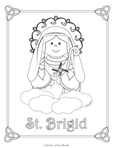 I have more to say here and some resources for St. Brigid that I will come back and share later. In the mean time here is a FREE coloring. Catholic Religious Education, Catholic Kids, Crafts Fir Kids, Arts And Crafts, St Brigid, Bored Kids, English Worksheets For Kids, Sacred Art, Free Coloring Pages