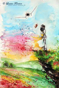 Des-aquarelles-inspirees-du-studio-Ghibli-par-Louise-Terrier-13