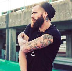 #Tattoo #beard #cat