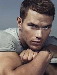 Kellan Lutz - holy abs, by the way! (Best known as Emmet Cullen from the Twilight series).
